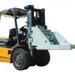 Forklift attachment brick clamp