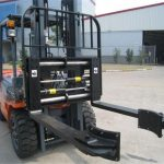 Hydraulic Forklift Attachment Mga Parihasnang Clamping Forks